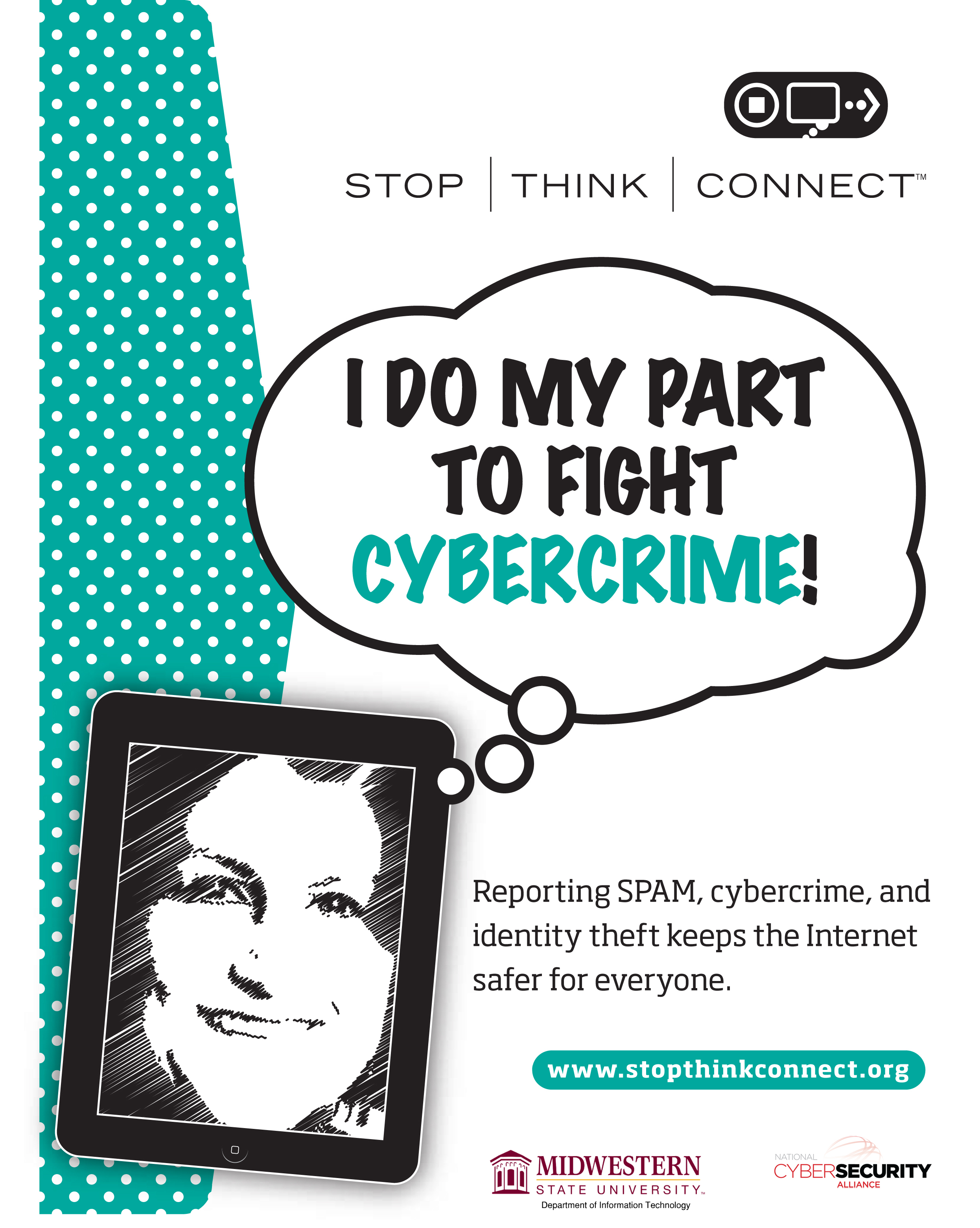 Stop Think Connect I Do My Part To Fight Cybercrime